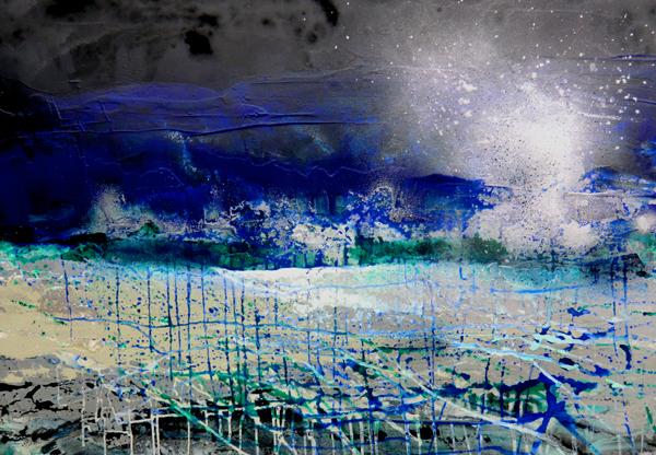 Zeitzone blau II